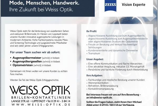 Weiss_Optik_Lippstadt_Stellenanzeige_Augenoptiker_2020